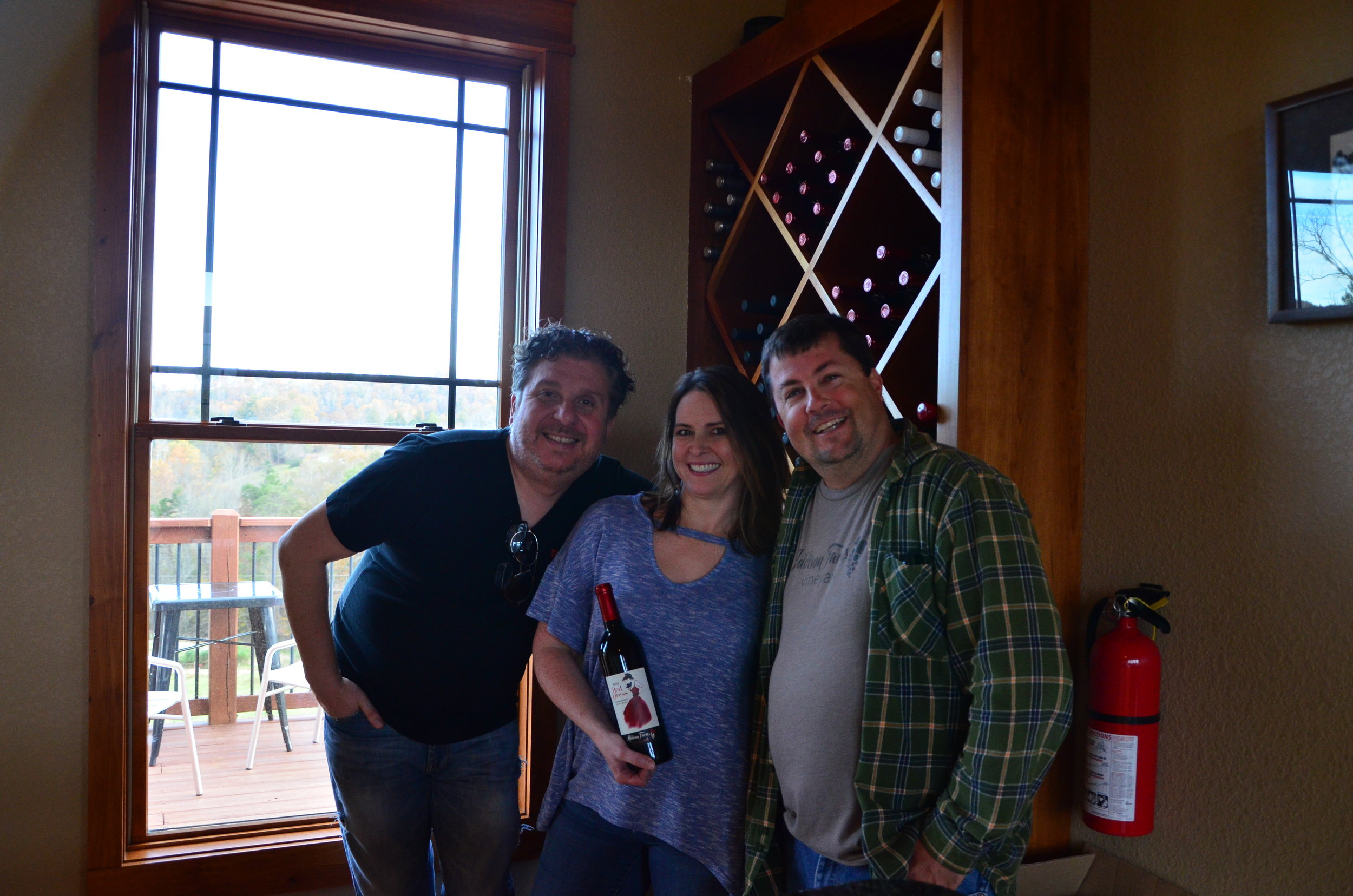 - Triangle Around Town's Dathan & Jen with Jeff Frisbee of Addison Farms Vineyard