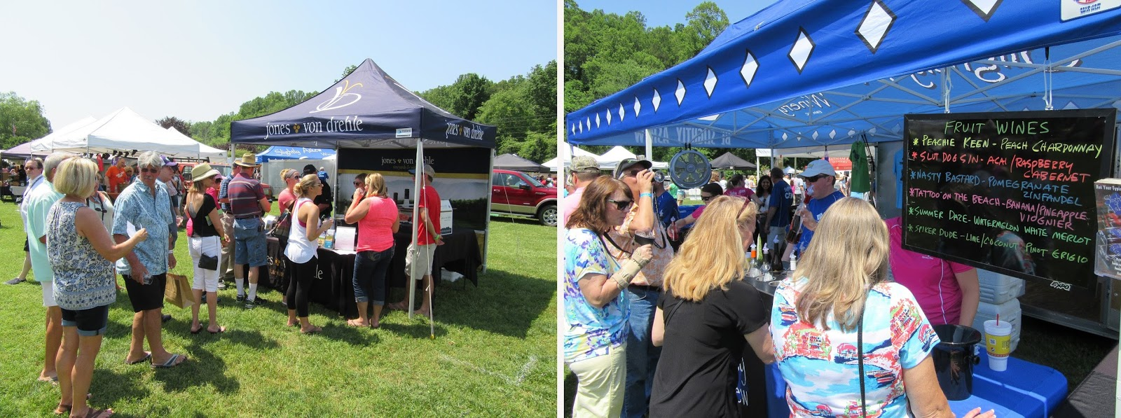 Lines formed early at the Yadkin Valley Wine Festival in Elkin.