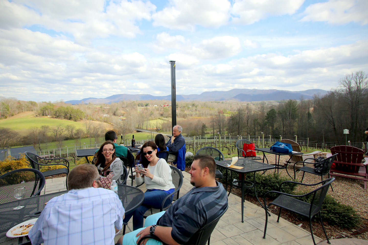 Silver Fork Winery in Morganton offers a incredible view of the North Carolina mountains