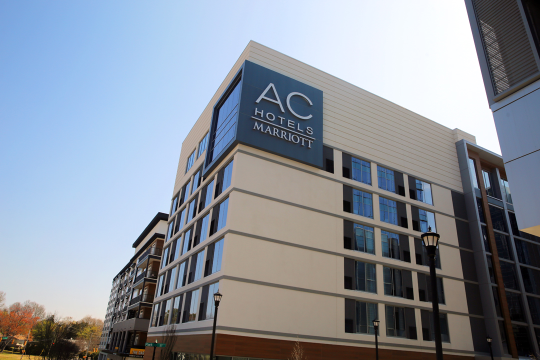 The newest AC Hotel by Marriott will open to the public on Monday, March 27 inside Raleigh's North Hills.