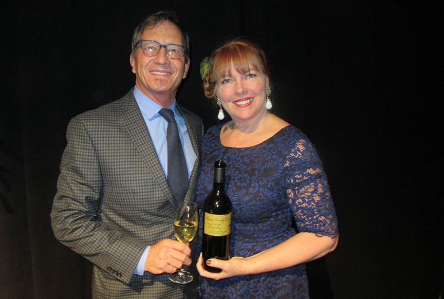 Guy and Judy Davis of Davis Family Vineyards during the 2018 Triangle Wine Experience Gala.