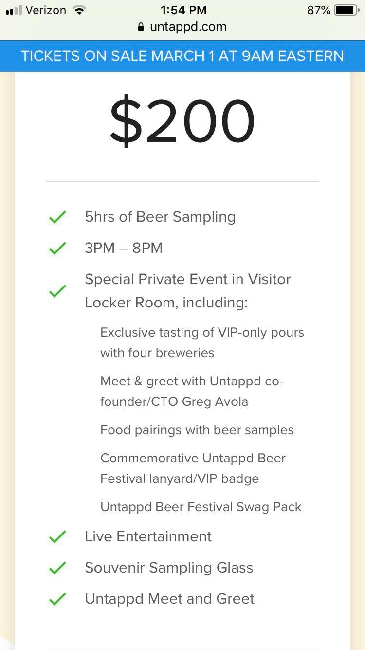 Carolina Panthers team up with Untappd for inaugural beer festival  for sale