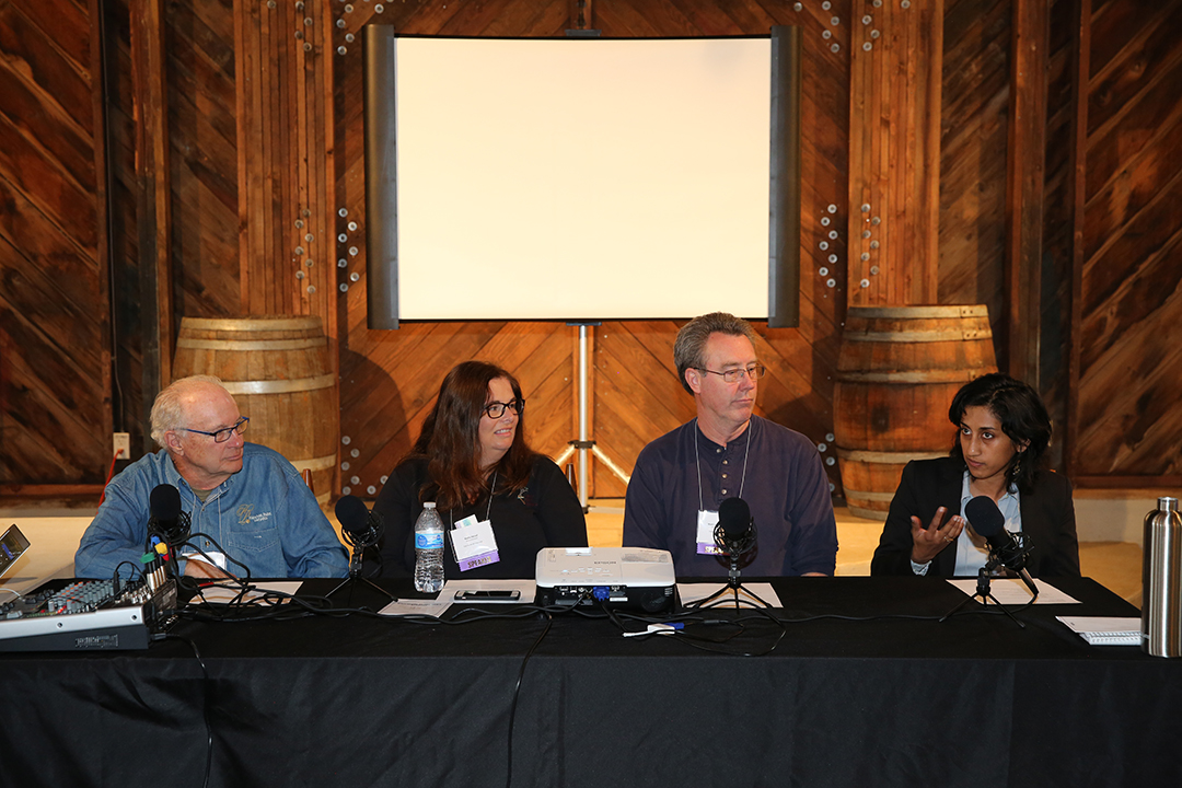A panel discussion with winemakers included Hanover Park Vineyard, Cypress Bend Winery, Childress Vineyards and Addison Farms Vineyards.