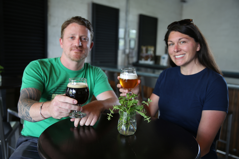 Ryan and Jennifer Kolarov of Raleigh's Neuse River Brewing Company.