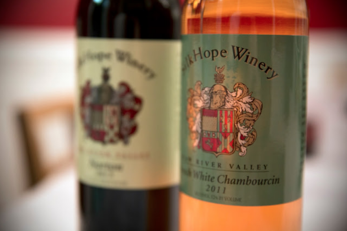 Wines from Silk Hope Winery.