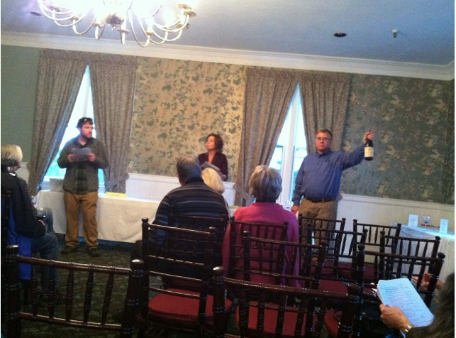 Live auction following the wine tasting