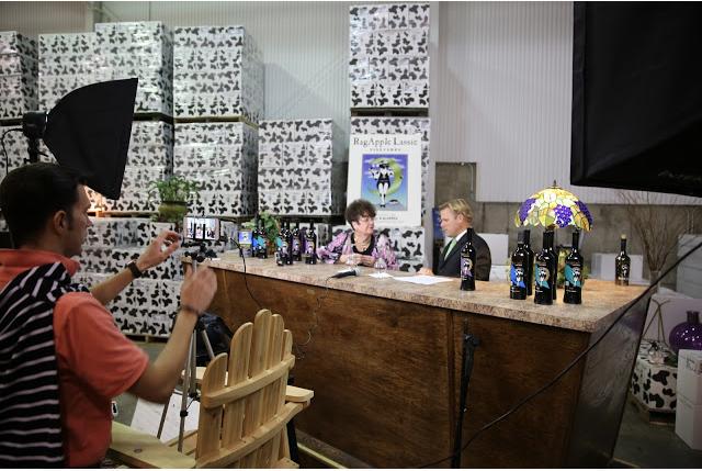 Behind the scenes filming at Ragapple Lassie Winery in Boonville, N.C.