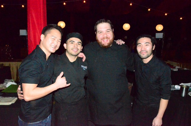SONO chef Mike Lee, left, and his crew prepared a tasty appetizer for the TWE Gala.
