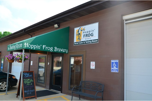 Hoppin' Frog Brewery in Akron, Ohio