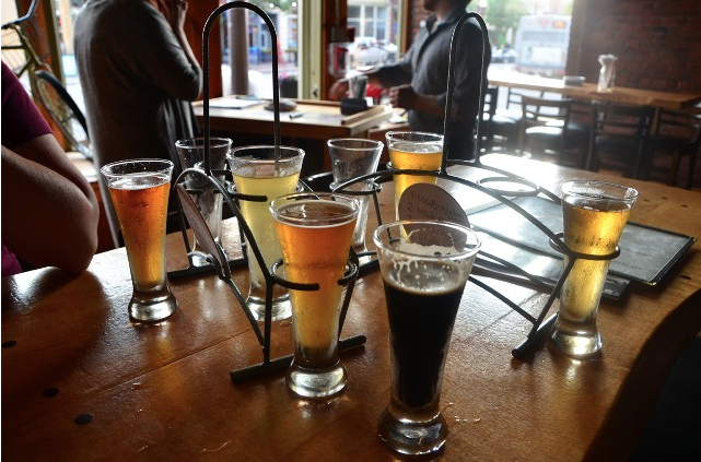 We sampled many beers at Nano Brew Cleveland
