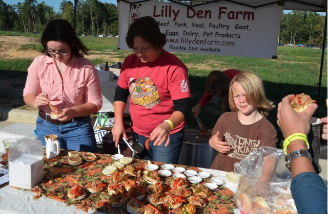 Lilly Den Farm of Goldston, N.C. was serving at the 7th Annual Pepper Festival.