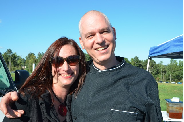 Food blogger/author Johanna Kramer and 518 West's chef Serge Falcon-Vigne.