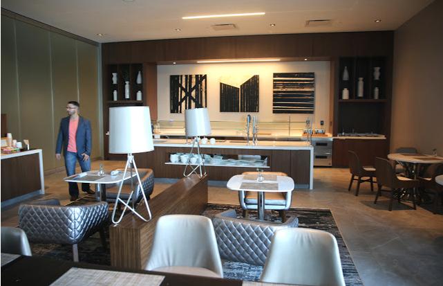 Enjoy breakfast each morning at Level 7's breakfast area.