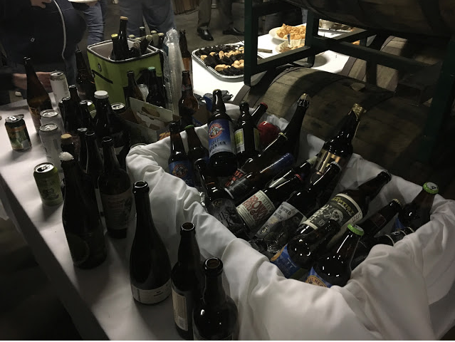 Close to 100 different beers were available to sample during the Foothills bottle share on Jan. 27.