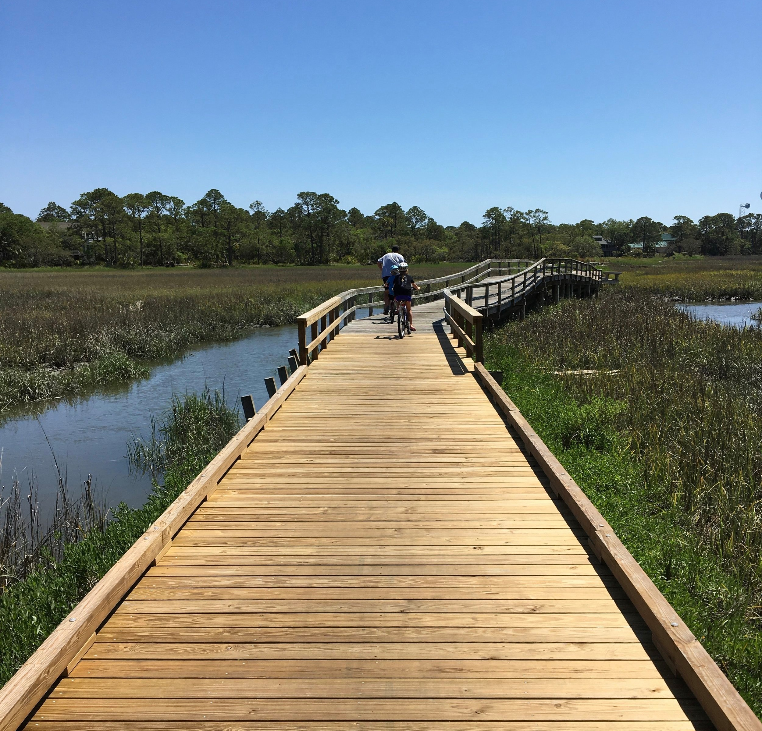 My family cycling at fripp island