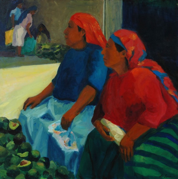 Morning Market: Tloculula II, 42x42, 2006