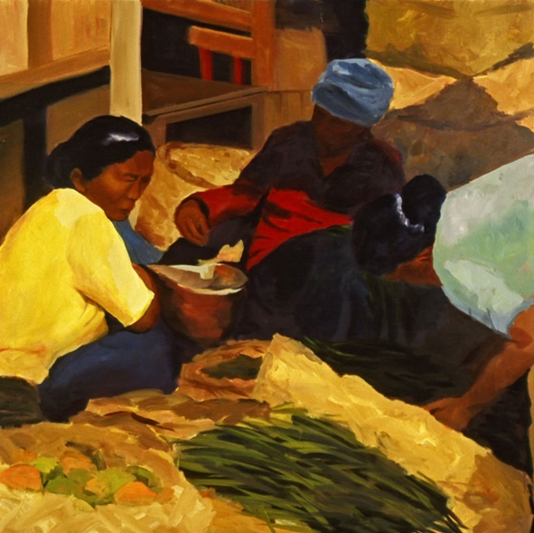 Morning Market: Ubud II, 42x42, 2006