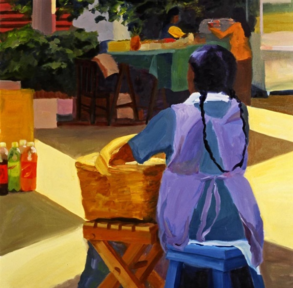 Morning Market: Xochimilco, 42x42, 2006