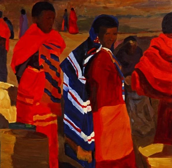 Morning Market: Arusha I, 42x42, 2006