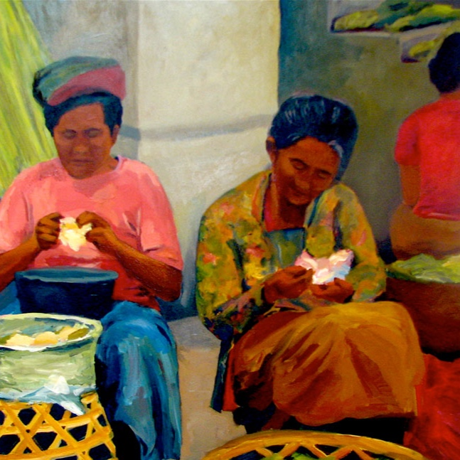 Morning Market: Ubud II, 42x42, 2008