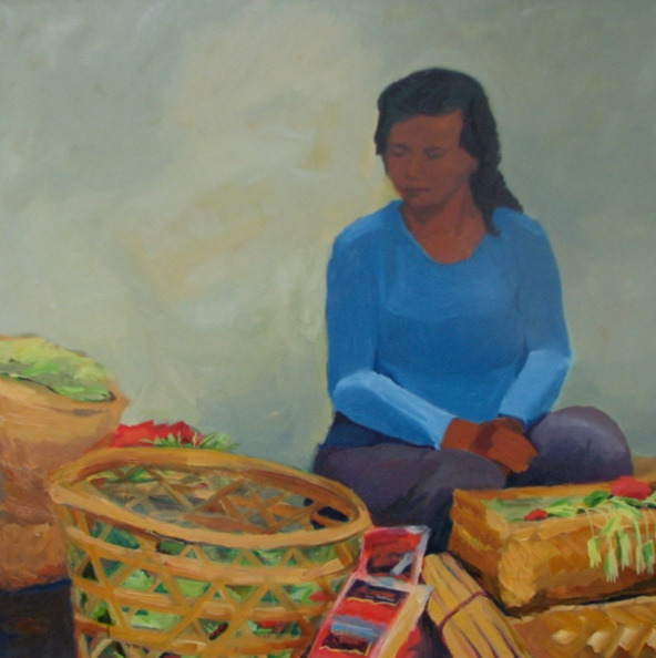 Morning Market: Ubud I, 42x42, 2008