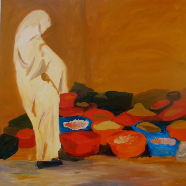 Morning Market: Marrakesh, 42x42, 2008