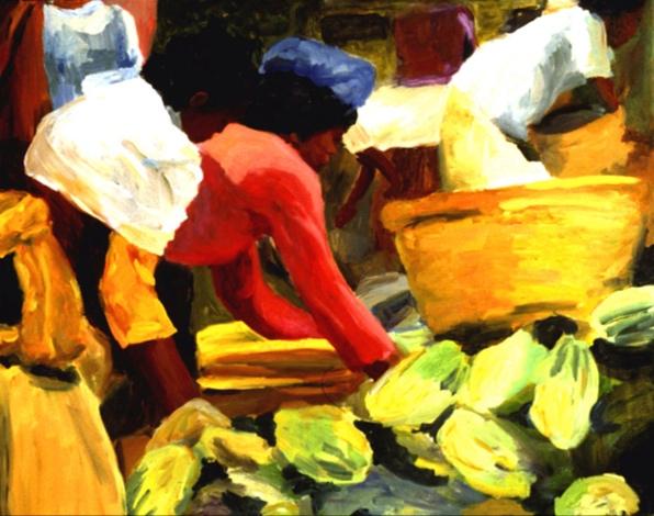 Ubud Market I, 24x30, 2002