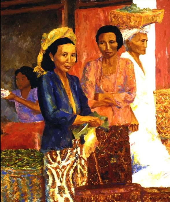 Ubud Market II 48x60, 1985