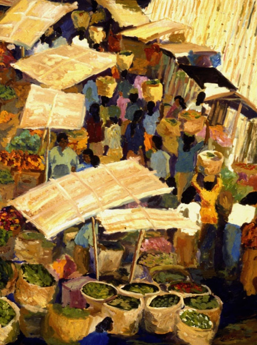 Morning Market Ubud IV 1999 36x48
