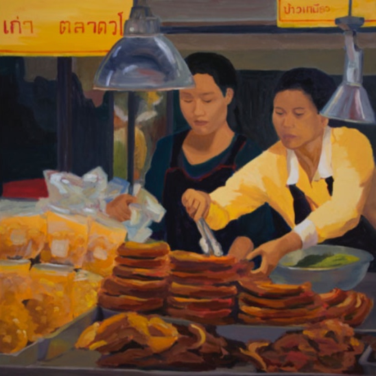 Morning Market: Chiang Mai, 42x42, 2014