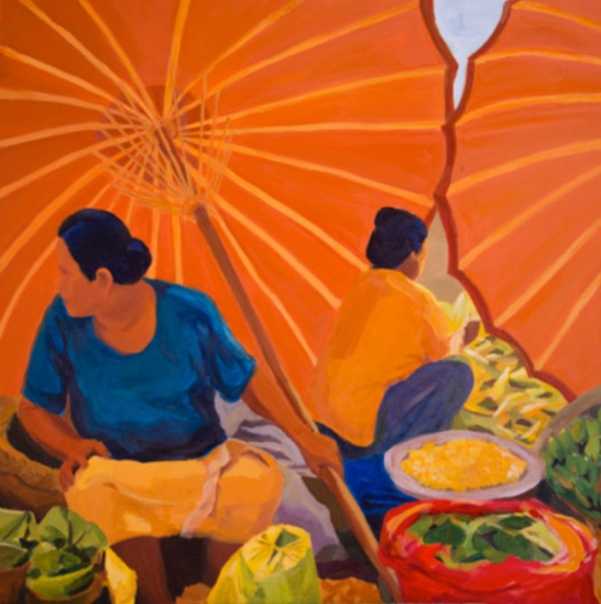 Morning Market: Ubud XII, 42x42, 2014
