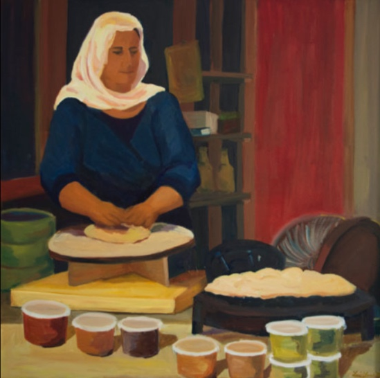 Morning Market: Tel Aviv, 42x42, 2014