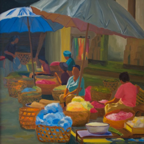 Morning Market: Ubud XI, 42x42, 2014