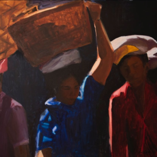 Morning Market Ubud, 36x36, 2002