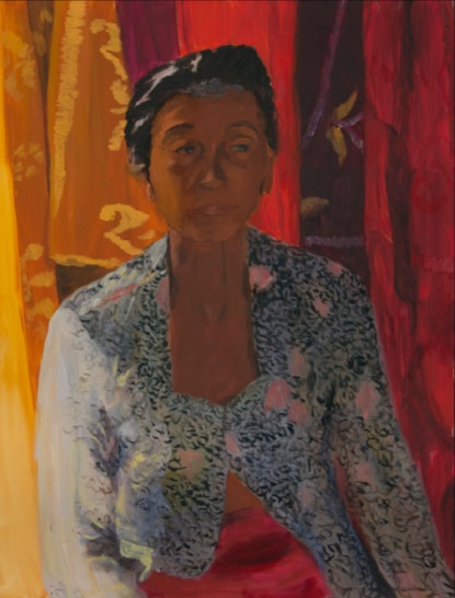 Morning Market, Ubud, Ibu, 30x40, 2002