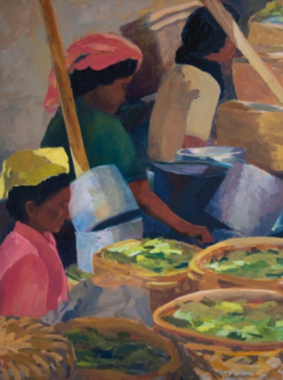 Morning Market, Gianyar, 36x48, 2002
