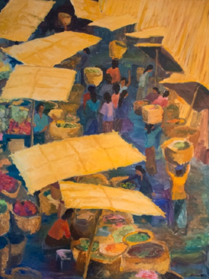 Morning Market, Ubud, 36x48, 2000