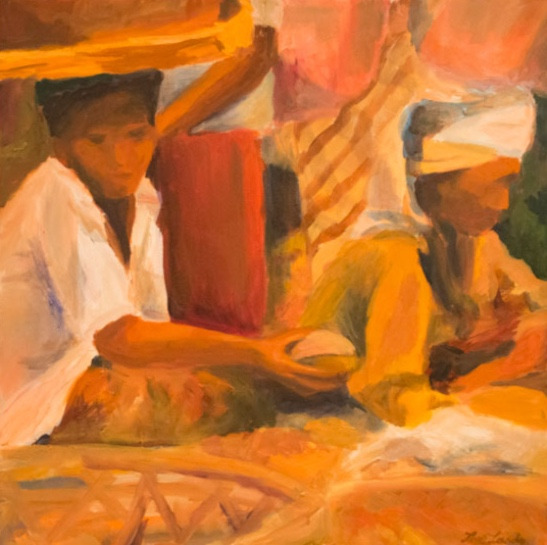 Morning Market, Ubud, 24x24, 2002