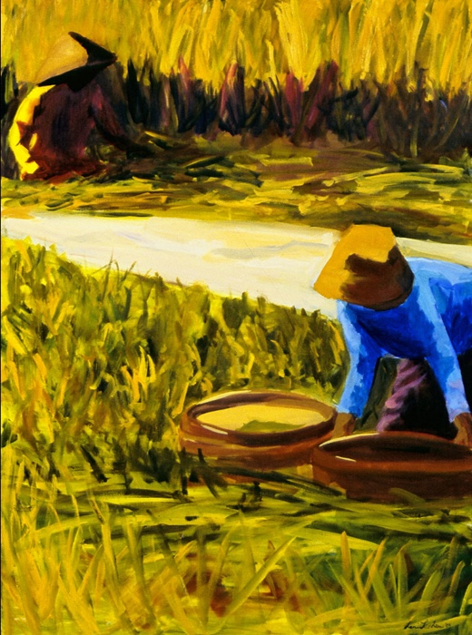 Rice Harvest VII, 36x48, 2003