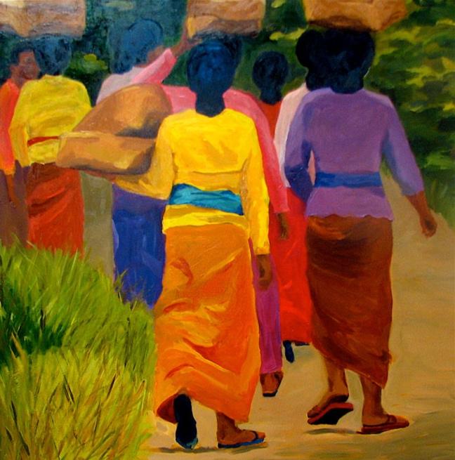 Temple Procession VII, 42x42, 2008