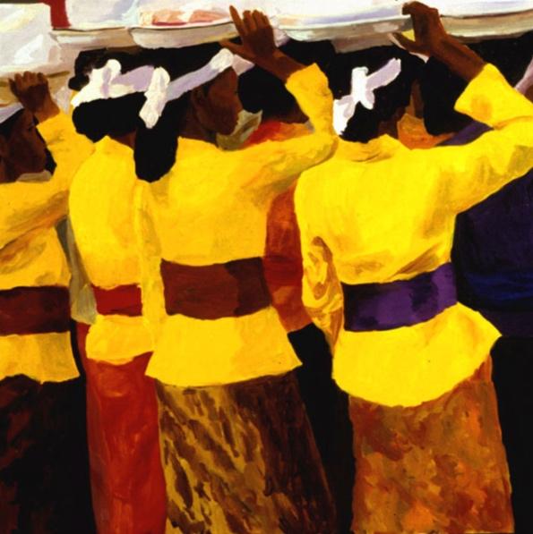 Temple Festival I, 36x36, 2002