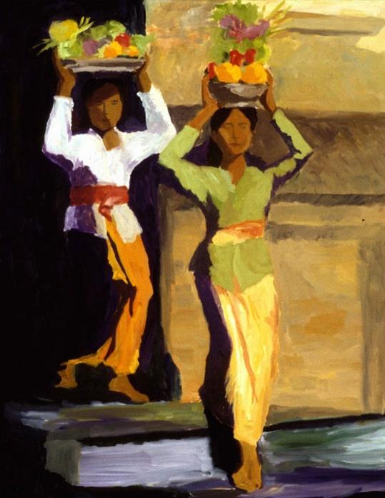 Temple Festival II, 36x48, 1999