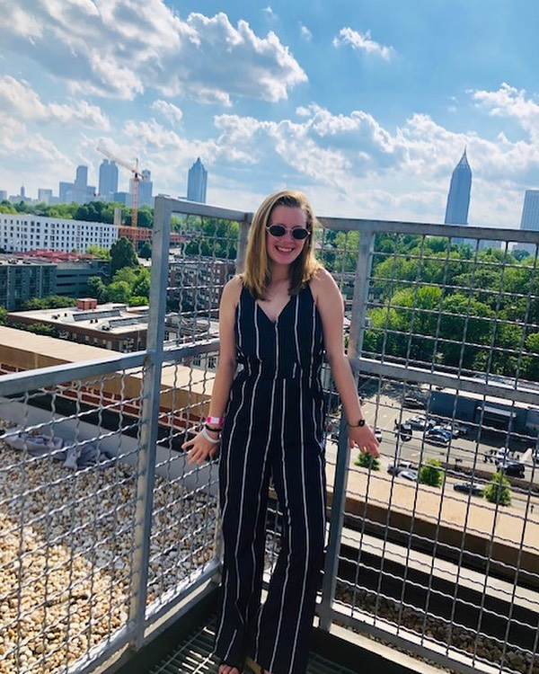 """Meet Emma, another one of our scholarship recipients! Here's a little bit more about her: """"I'm Emma Bullman and I'll be going to Ngaamba, Kenya in July. I am so so excited for my trip as it is my first mission trip. I am most excited about going and spreading Mackenzie's love and joy all around the world, and spending my birthday teaching about the peace of God. I go to North Point Community Church, and I am also a cheerleader at Roswell High School. I did not know Mackenzie well, but I have always looked up to her as a role model, and I am beyond honored to let her shine through me as I embark on this journey."""" We are so excited to see how Emma spreads Mackenzie's love this summer!💛 #bekind #stickupforlove"""