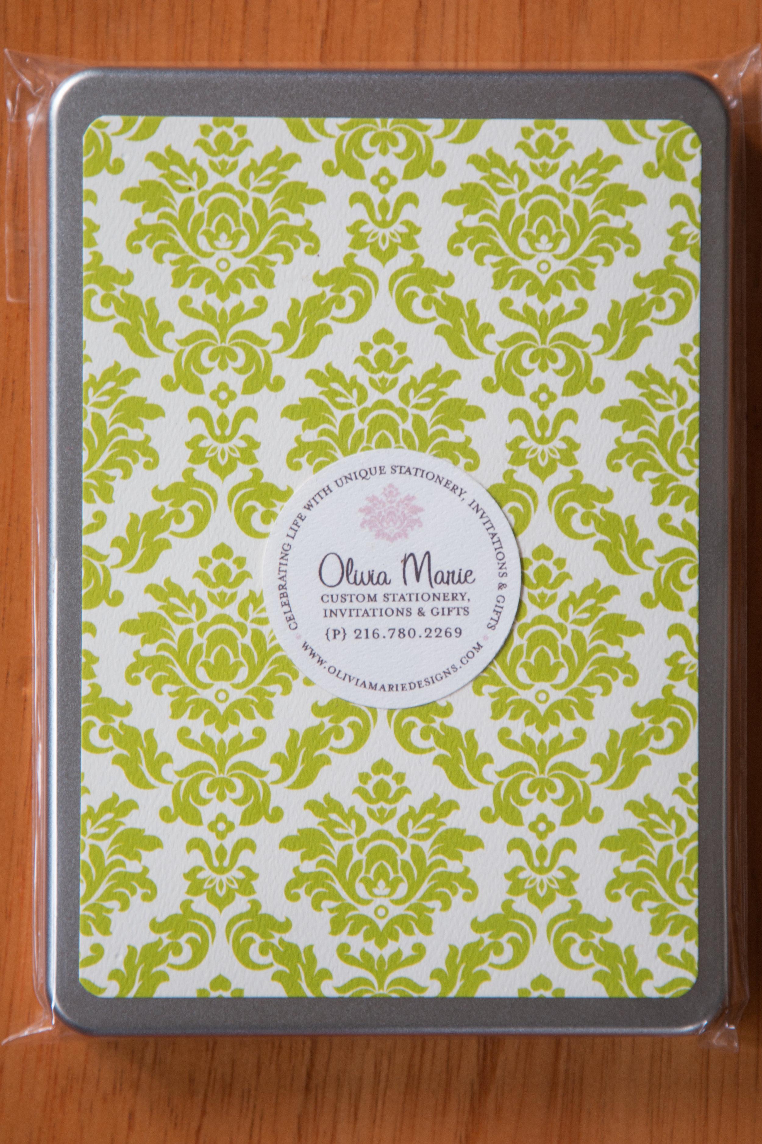 Olivia Green Stationery Tin $35