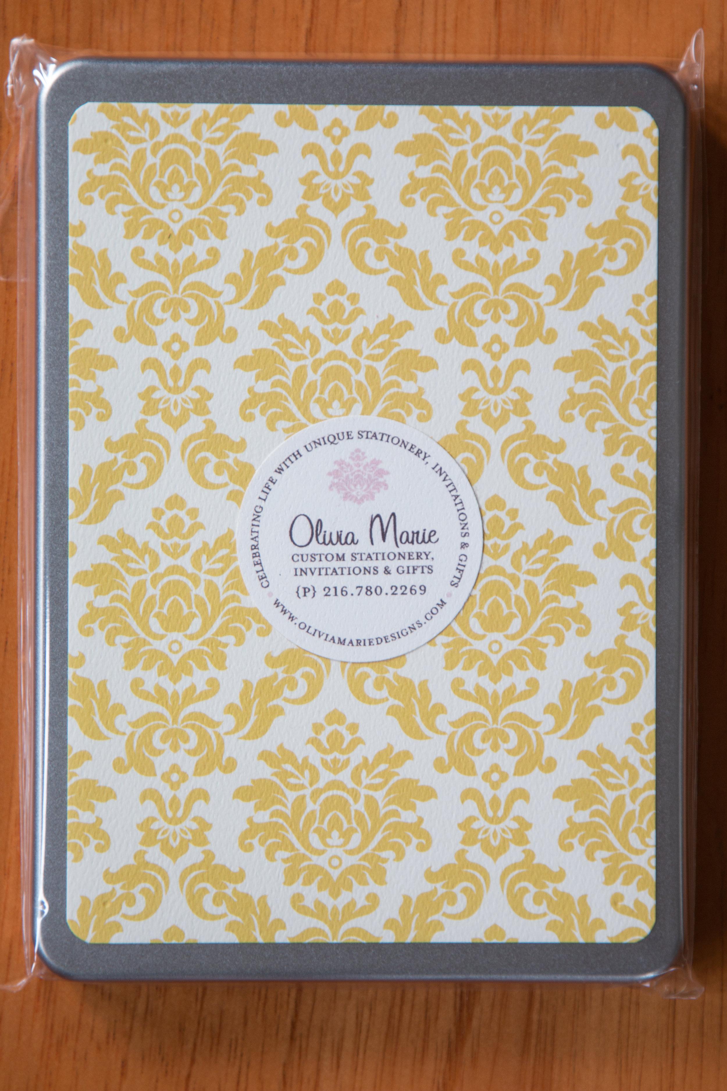 Olivia Gold Stationery Tin $35