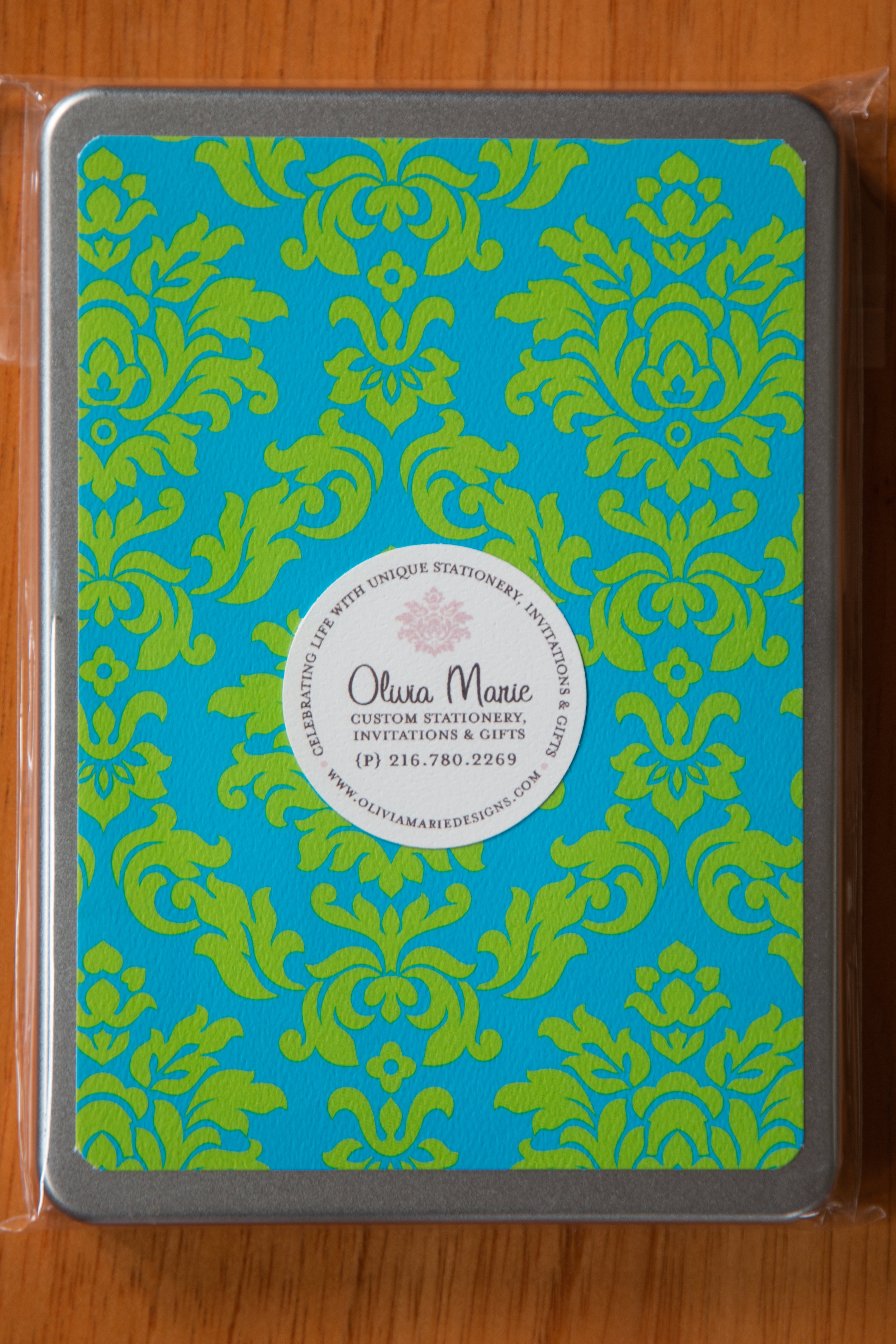 Claire Blue Stationery Tin $35