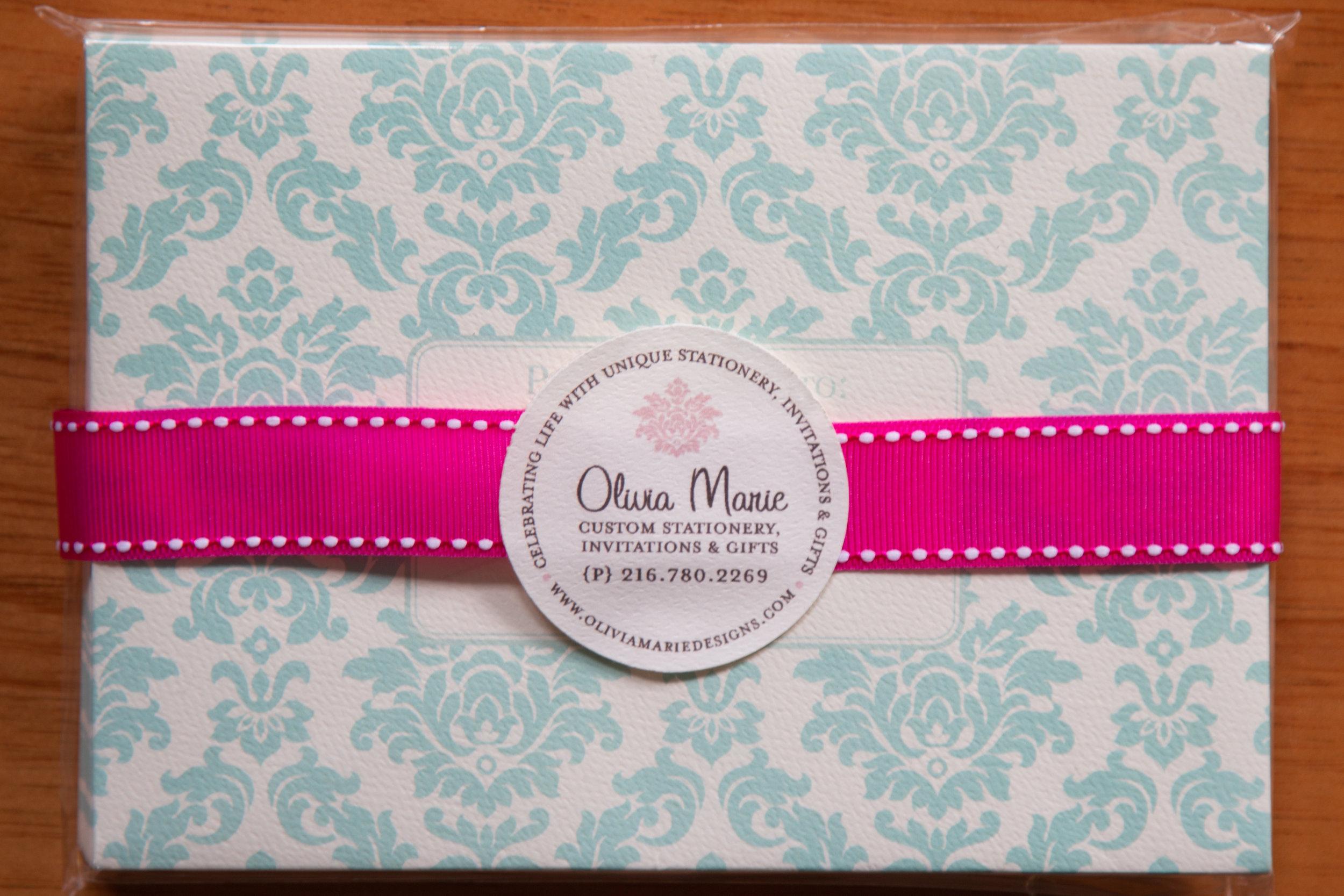 Olivia Blue Stationery Set $20