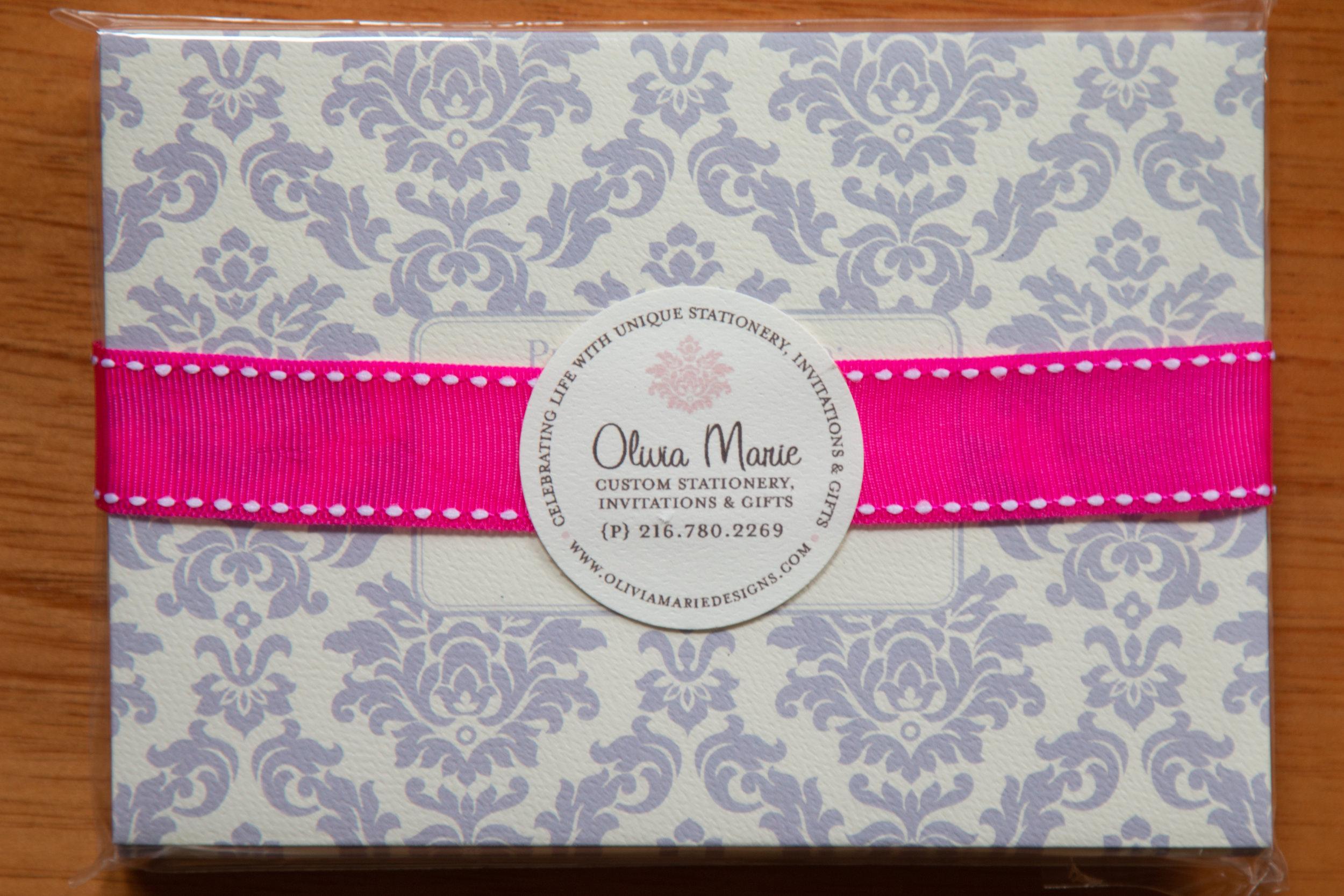 Olivia Lavendar Stationery Set $20