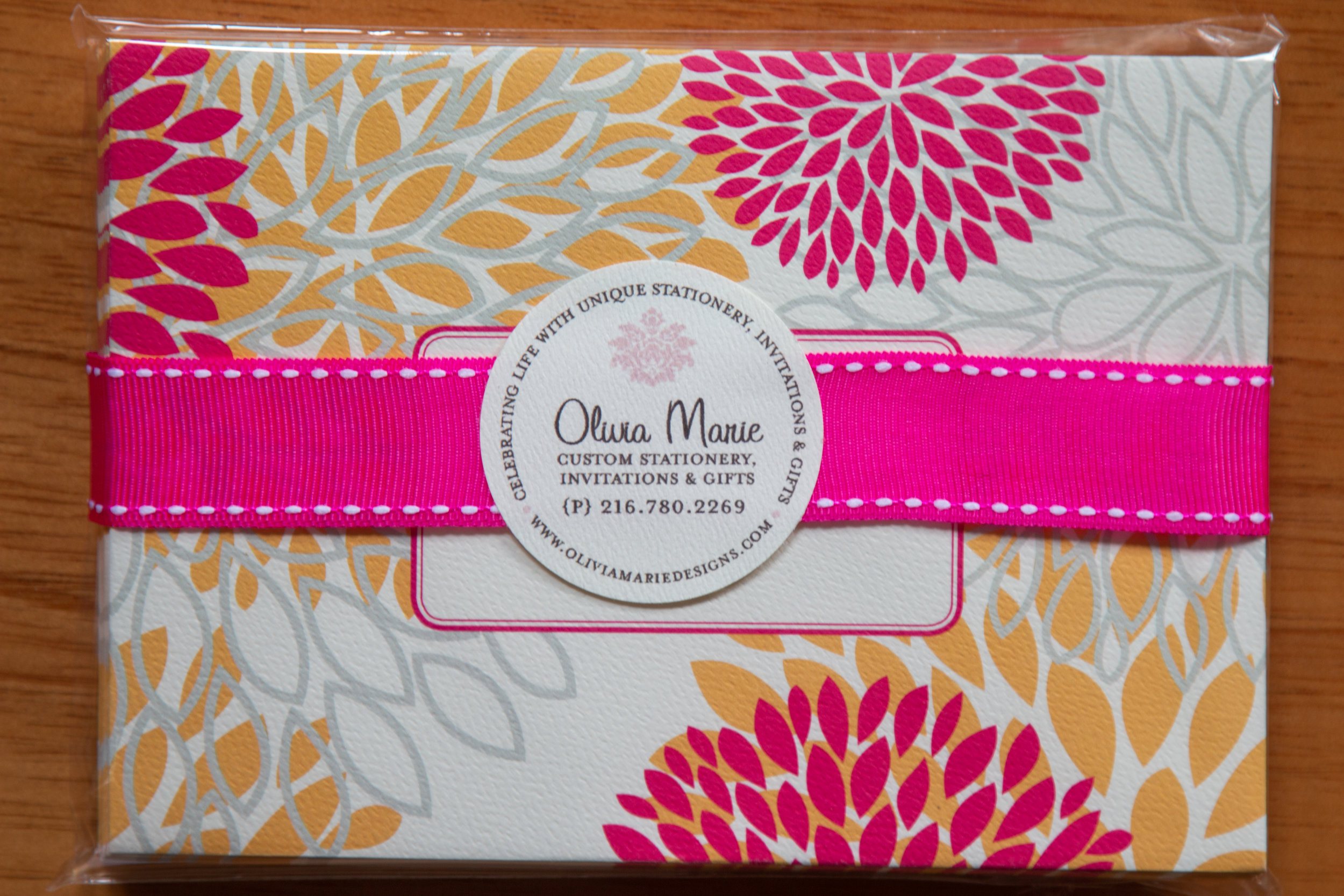Marie Pink Stationery Set $20