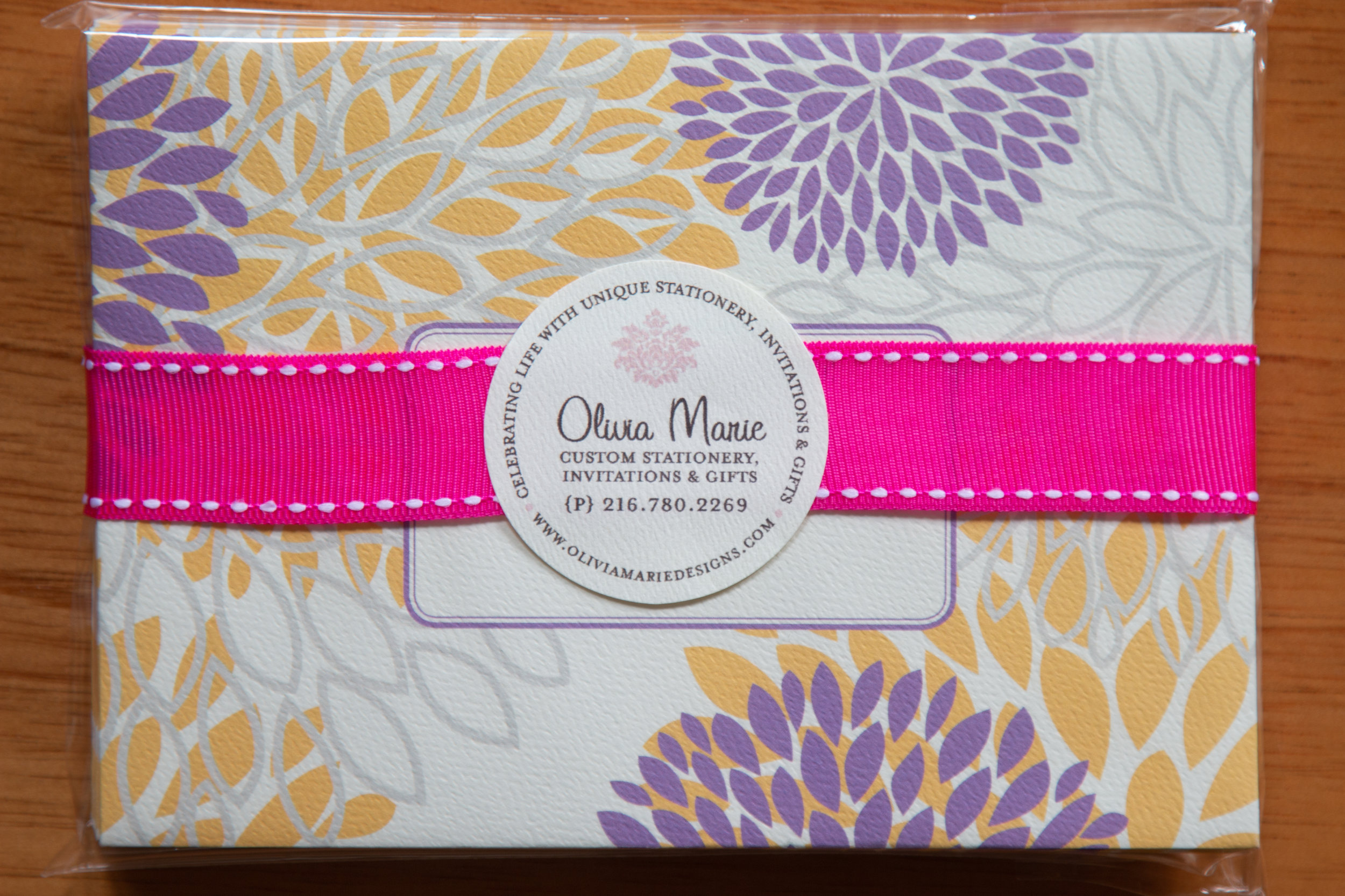 Marie Purple Stationery Set $20